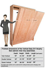 Murphy Wall Bed Vertical Style Hardware Construction Kit  Double and Queen Size