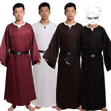 Adult Medieval Wicca Pagan Ritual Robe With Belt  Cosplay Costume Cape 4 Sizes