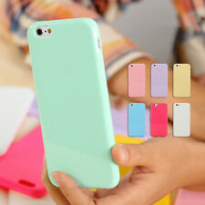 PASTEL CANDY GLOSS SHINY SOFT SILICONE CASE COVER FOR IPHONE 6 6 PLUS 5S 5C 4S