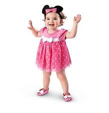 Disney Store MINNIE MOUSE Cuddly Bodysuit costume ears or baby shoes UCHOOSE NWT