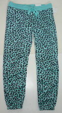 Womens AEROPOSTALE LLD Leopard Cinch Fleece PJ Dorm Sweat Pants  NWT #7186