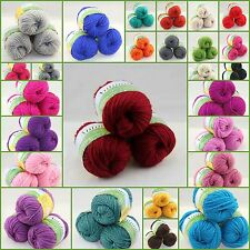 Sale LOT of 3 BallsX50g Chunky Thick Soft Wool Hand SOLID COLOR Yarn Knitting I