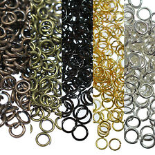 Wholesale 4/5/6/8/10/12/14mm Split Jump Rings Open Connector Jewelry Finding DIY