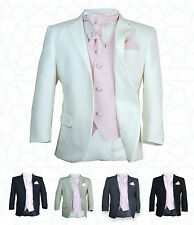SIRRI Boys 5PC Formal Wedding Suits Pink Cravat Prom Page Boys Suit