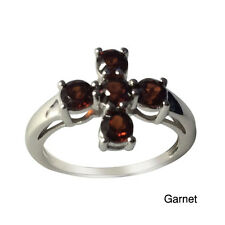 Sterling Silver Your Choice Of Gemstone Five -Stone Ring