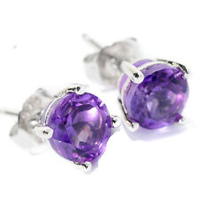 Sterling Silver Choice of Gemstone Solitaire Stud Earring