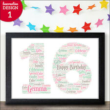 16th Birthday Gifts Personalised 16 Sixteen Presents Girl Boy Teenager