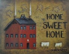 "JON176 Saltbox Home Sweet Home John Sliney 16""x20"" framed or unframed print"