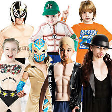 Deluxe WWE Boys Fancy Dress TV Wrestling Sports Kids Childrens Costume Outfits