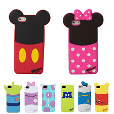 Cute Minnie Mickey Mouse Sulley Silicone Case Cover for iPhone 4G 4S 5S 6 Plus