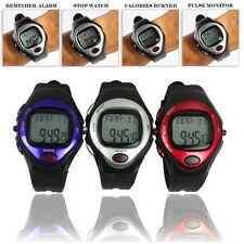Pulse Heart Rate Monitor Calories Counter Fitness Watch Time StopWatch Alarm DX