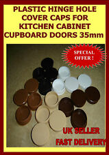 PLASTIC HINGE HOLE COVER CAPS FOR KITCHEN CABINET CUPBOARD DOORS35mm