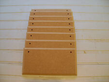 """8 X MDF WOODEN SIGN PLAQUES 6"""" x 3"""" WITH OR WITH OUT HOLES BLANKS  + jute string"""