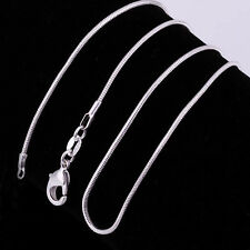 5pc925 simply Sterling Silver Snake Chain Necklace pendant fashion accessories