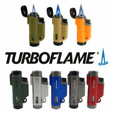 TurboFlame 1300°C Twin VFlame Ranger Lighter Butane Refilable Windproof Jet BBQ