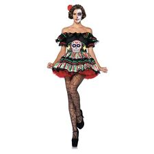 Day of the Dead Dia de los Muertos Costume Adult Womens Halloween Fancy Dress