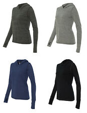 Alo Sport - Ladies Triblend Long Sleeve Hooded Moisture wicking Pullover (W3101)
