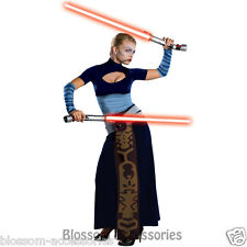 CL311 Deluxe Asajj Ventress Star Wars Costume Womens Halloween Fancy Dress Up