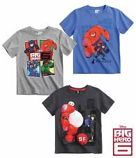 Big Hero 6 T Shirt Top Boys Age 4 6 8 10 Years Official New