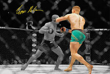 CONOR McGREGOR POSTER SIGNED PRINT PHOTO AUTOGRAPH UFC FIGHT BRANDAO KNOCKOUT