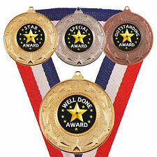 Star Medals, Star Award, Outstanding, Star Pupil, School, Academic, Star Trophy