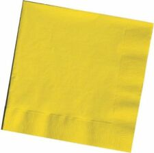 YELLOW PAPER NAPKINS 2ply Serviettes Coloured Party Cocktail Wipes Tableware