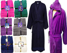 Towelling bath Robe Dressing Gown Terry womens mens100% Egyptian Cotton s/m l/xl