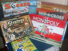 BOARD GAMES   FAMILY, FOOTBALL, SCRABBLE -- click on the site to chose and order