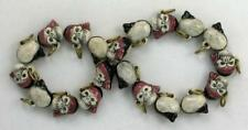 """Hand Painted Ceramic Beads, 1/2"""" Skull Faced Pirate  Design, New"""