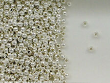 Sterling Silver Beads,  2mm Seamless Round Design,New