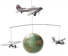 Authentic Models Around the World Model Airplane Globe Baby Mobile Decor