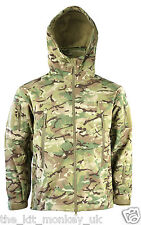 Kombat Patriot Army BTP Camo Soft Shell Shark Skin Hooded Jacket works with MTP