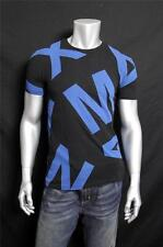 New Armani Exchange Mens Muscle Slim Fit Oversized Allover Logo Tee Shirt d6x564