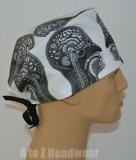 Anatomy of the Head Unisex Surgical Scrub Cap Hat**SPECIAL EDITION**
