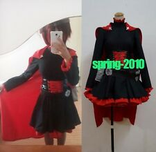 FANCY New RWBY Ruby Rose Cosplay Costume Fancy Red Dress & Cloak cosplay