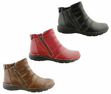 PLANET SHOES LOOTAH WOMENS/LADIES LEATHER COMFORT ANKLE BOOTS/SHOES/FLATS/SALE!