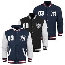 Majestic Oakland Raiders & New York Yankees Letterman Varsity Jacket