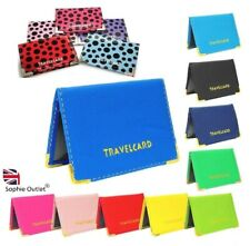 Oyster Card Holder Travel Holder Rail Cover Bus Pass Credit Bank Driving B3