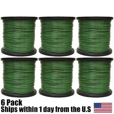 5lb 095 Round Green Round Trimmer Line Spool Roll Fits  Echo Stihl Redmax