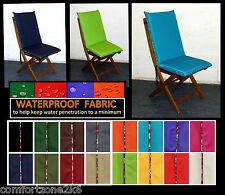 WATERPROOF FABRIC DINING CHAIR CUSHION FLORAL PIPING SEAT PAD GARDEN FURNITURE