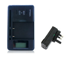 Universal LCD Display AC Wall Main USB Battery Charger for Various Cell Phones D
