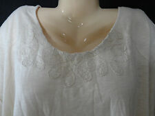 New Catherines 2X 22/24 4X 30/32 Womens Plus Cream Ivory Swirl Stitch Casual Top