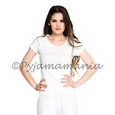 Thermals Ladies Cotton Thermal Short Sleeve Top White (sz 8-22) Size 8-22