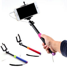 Wired Remote Handheld Selfie Stick Monopod Extendable Pole Holder For Phone