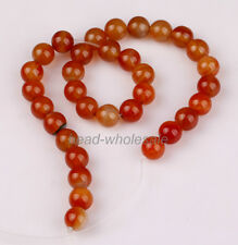 Natural Agate Gemstone Red Carnelian Round Beads 4/ 6/ 8/10/ 12/14mm