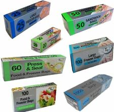 GRIP SEAL BAGS - HIGH QUALITY - SUITABLE FOR FOOD FREEZER CLOTHING - RESEALABLE