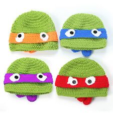 Baby Handmade TMNT Teenage Mutant Ninja Turtles Knit Crochet Hat Costume Beanies