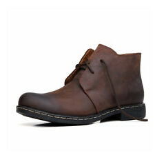new mens ankle boots leather chukka desert work warm winter shoes black brown
