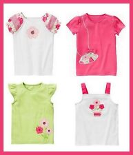 Gymboree Fairy Garden Tops 9 NWT Pink Green Peasant Potted Flower Tank Tee