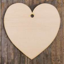 Wooden Curvaceous Heart Craft Shape 3mm Plywood in Sizes 3-25cm